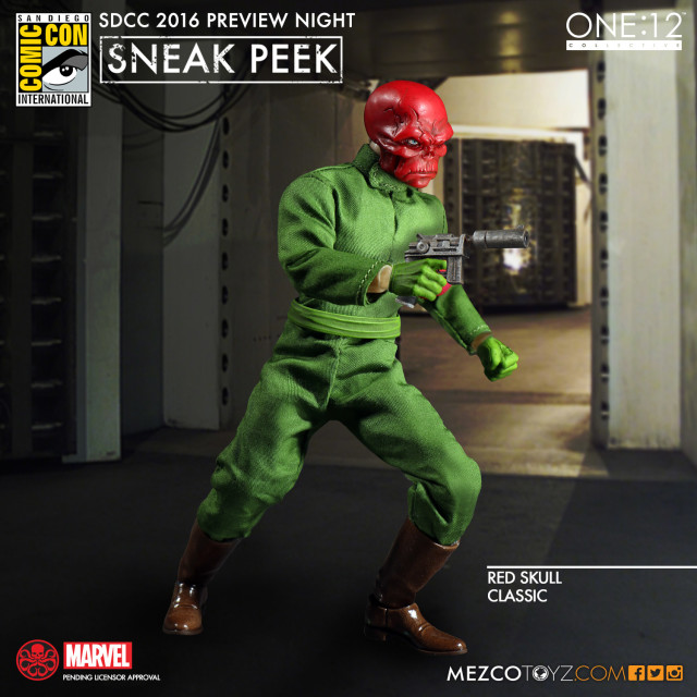 Mezco ONE 12 Collective Red Skull Figure SDCC 2016 Preview