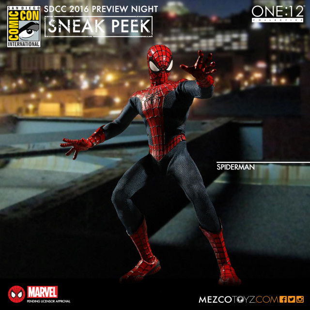 Mezco ONE 12 Collective Spider-Man Figure SDCC 2016 Preview Night