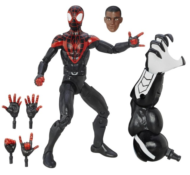 Miles Morales Marvel Legends Spider-Man Figure with Space Venom Arm