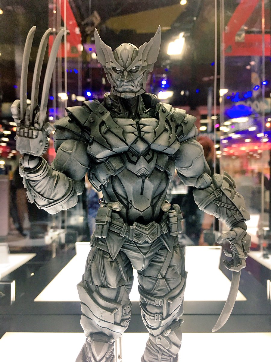 Play Arts KAI Variant Wolverine Deadpool Action Figure Collection Toys 10/'/'