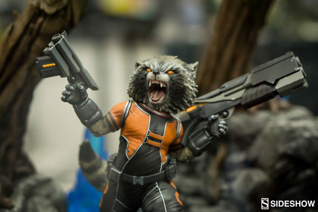 Rocket Raccoon Premium Format Figure Close-Up SDCC 2016