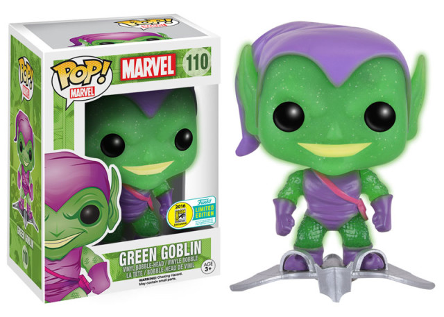 SDCC 2016 Funko Green Goblin with Glider Translucent Glitter