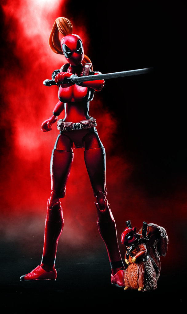 SDCC 2016 Lady Deadpool Marvel Legends with Squirrelpool