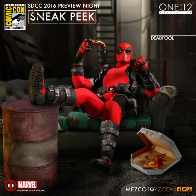 SDCC 2016 Mezco One 12 Collective Deadpool Figure Preview