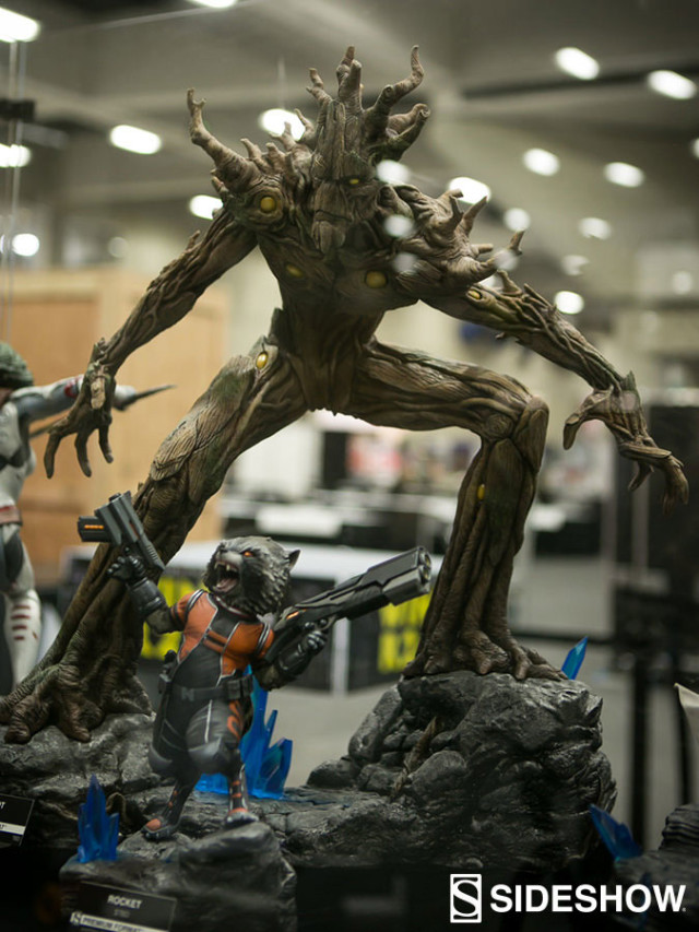 SDCC 2016 Sideshow Premium Format Rocket Raccoon and Groot Statue