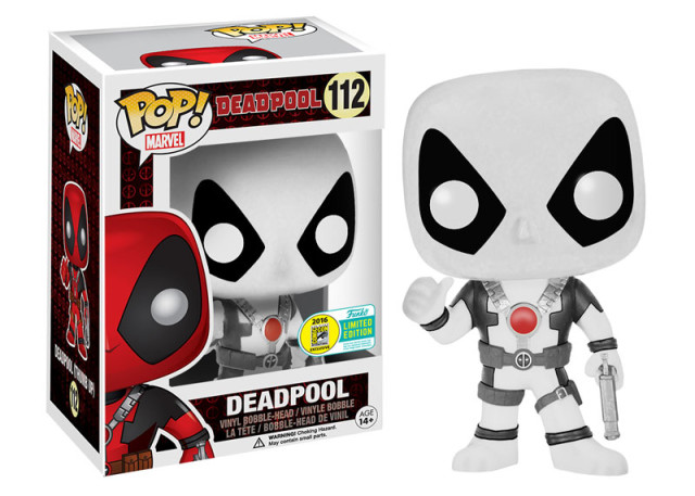 SDCC Exclusive Black and White Deadpool POP Vinyl