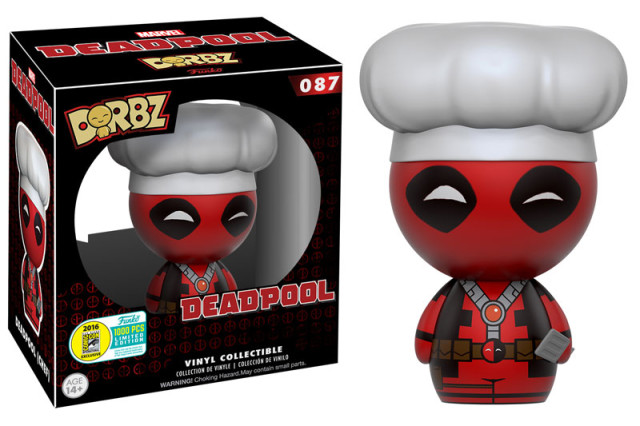 SDCC Exclusive Chef Deadpool Dorbz Figure