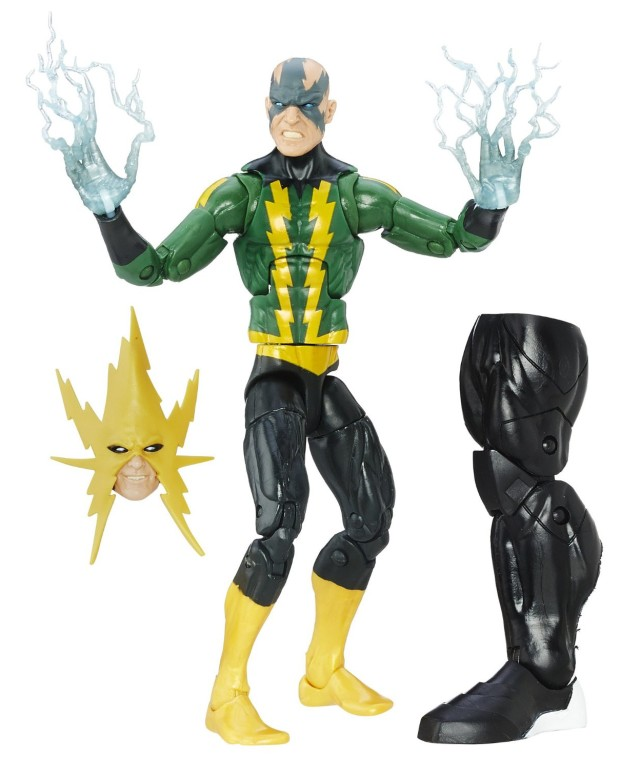 Spider-Man Legends 2016 Electro Figure Loose with Space Venom Leg