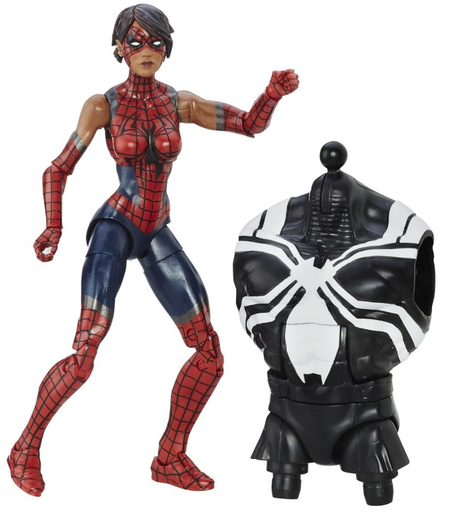 Spider-Man Legends Spider-Girl Ashley Barton Figure with Space Venom Torso
