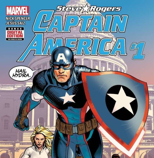 Steve Rogers Captain America Issue 1 Cover Hail Hydra