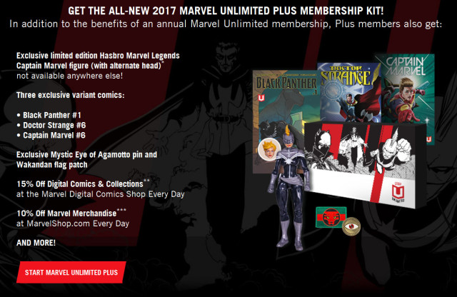 2017 Marvel Unlimited Plus Membership Time Runs Out Captain Marvel Figure