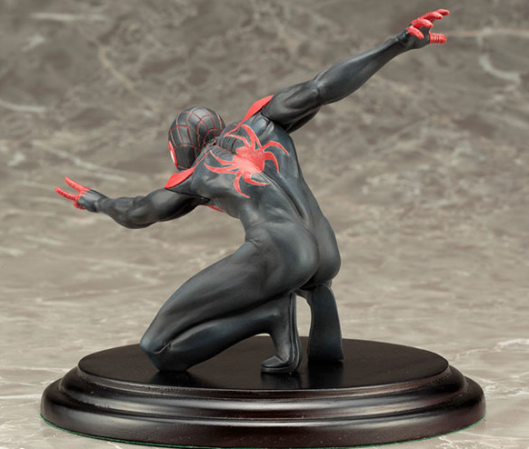 Back View of Miles Morales Spider-Man Kotobukiya Statue