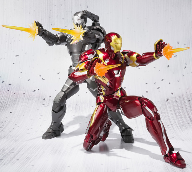 Bandai SH Figuarts Civil War Iron Man and War Machine Figures