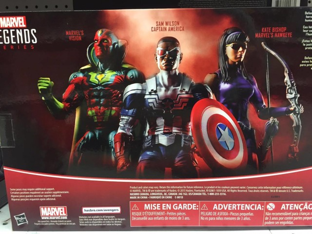Box Back Toys R Us Exclusive Marvel Legends 2016 3-Pack
