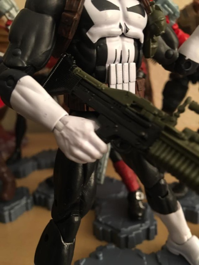 Close-Up of Punisher Walgreens Exclusive Figure Guns