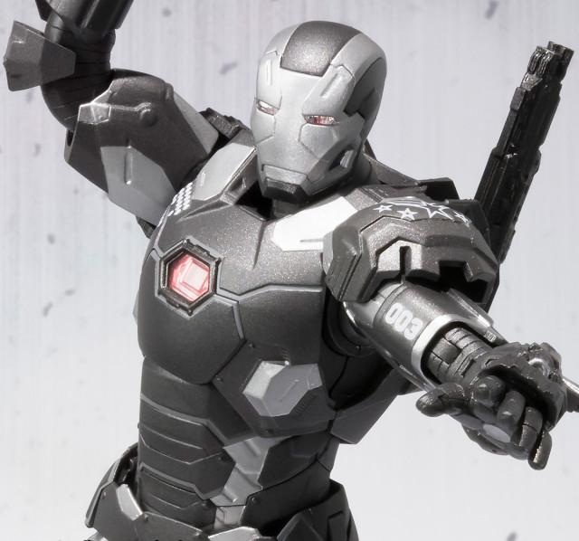 Close-Up of War Machine Mark III SH Figuarts Civil War Figure