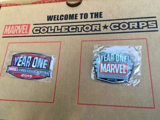 Marvel Collector Corps Year One Pin and Patch