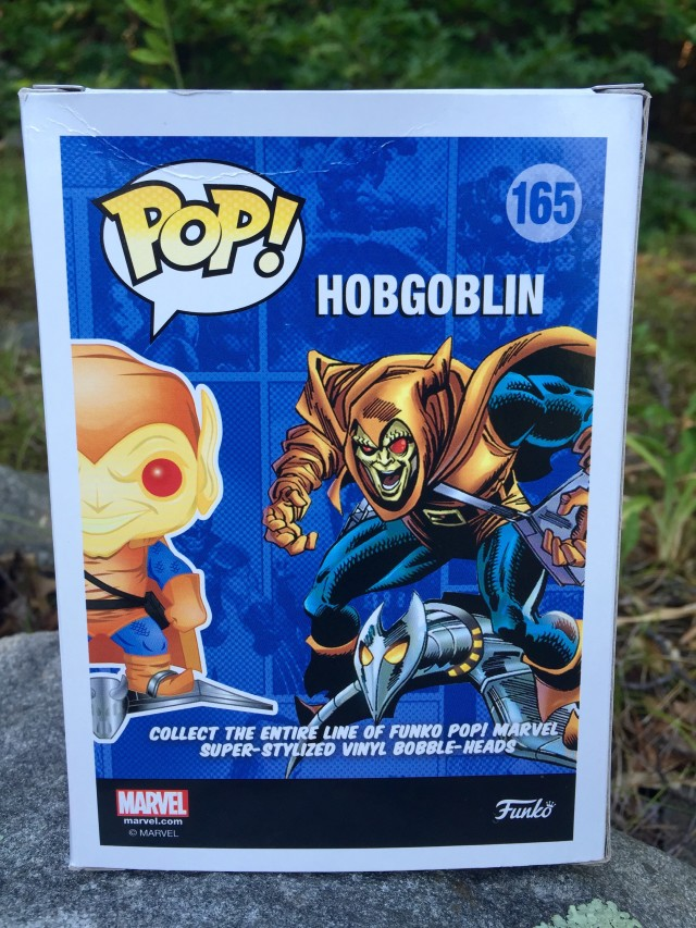 Box Back Funko Hobgoblin POP Vinyls Exclusive