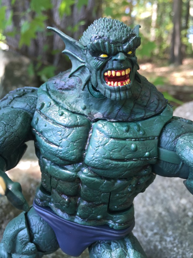 Close-Up of Marvel Legends Abomination SDCC Exclusive Figure Head
