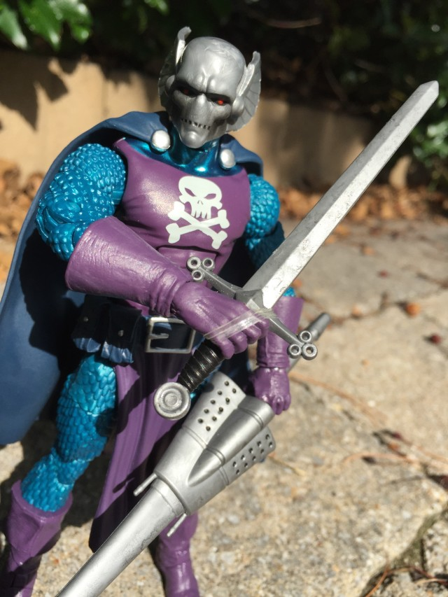 "Close-Up of Marvel Legends Dreadknight 6"" Figure"