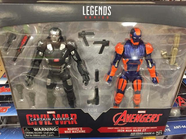 Target Exclusive Marvel Legends War Machine Disco Iron Man Two-Pack