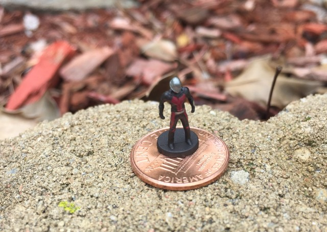 SH Figuarts Mini Ant-Man Figure on Penny Size Scale