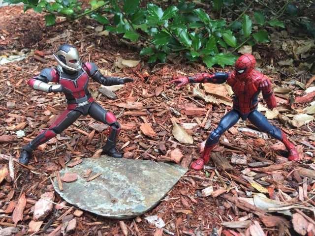 SH Figuarts Antman vs. Marvel Legends Civil War Spider-Man