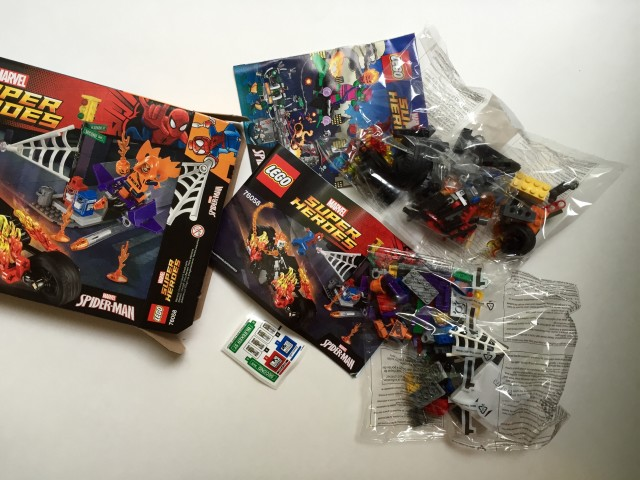 76058 LEGO Ghost Rider Team-Up Set Contents