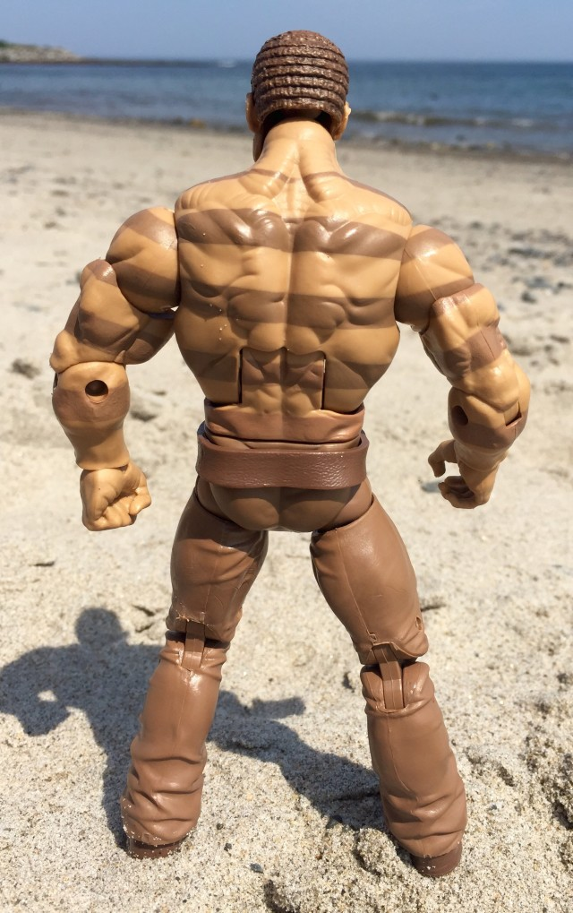 Back of Marvel Legends Sandman Sand Form Figure