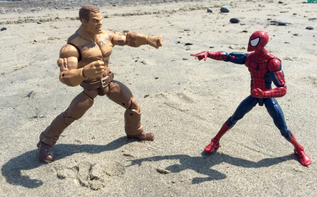 Marvel Legends The Raft Sandman Action Figures Fights Spidey
