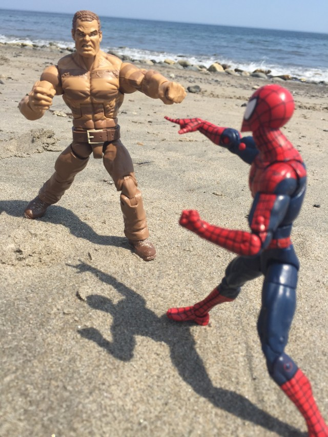 SDCC Sandman vs. Spider-Man Marvel Legends Figures