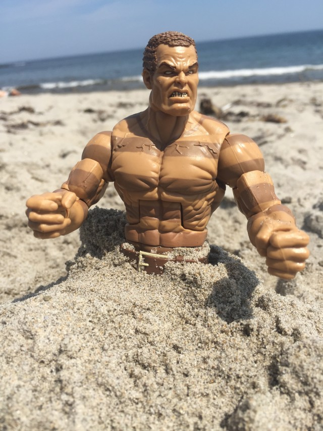 The Raft Sandman Marvel Legends Figure in Sand