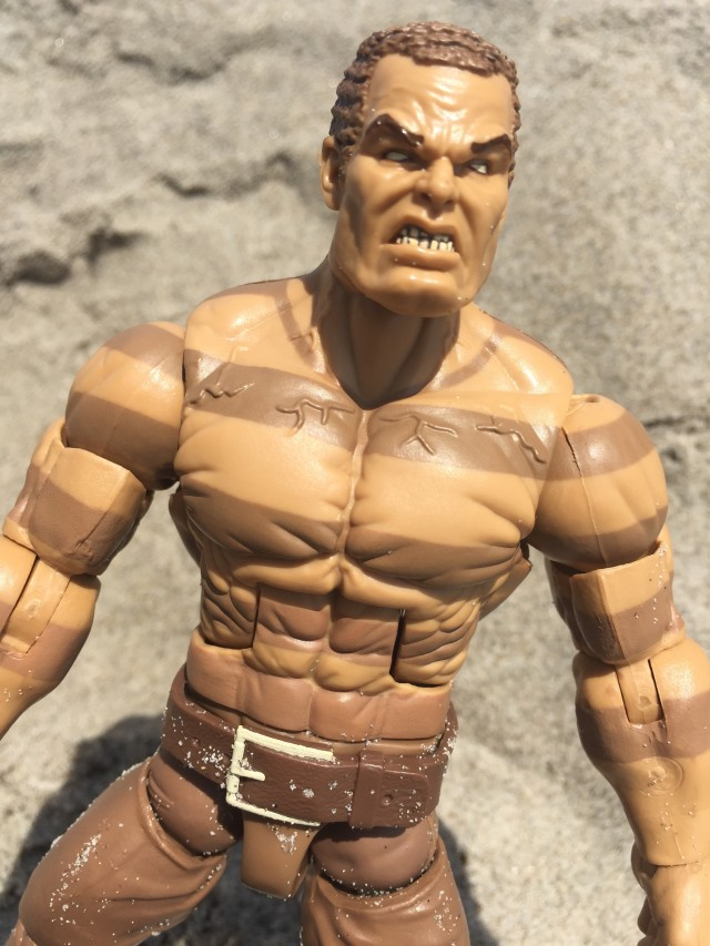 Close-Up of Marvel Legends 2016 Sandman Figure Head