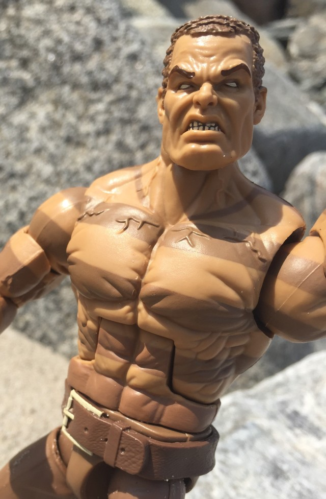 "Close-Up of Head on Hasbro Sandman 6"" Figure"