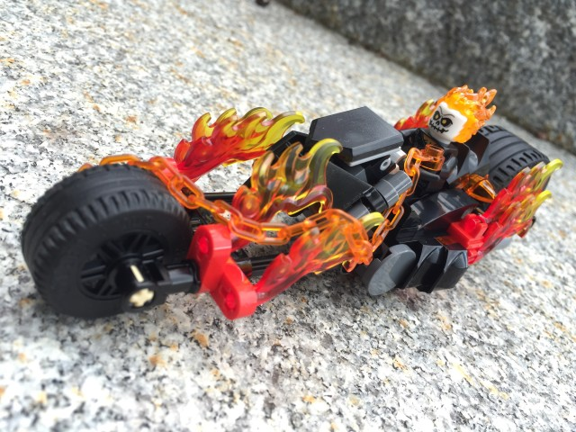 LEGO Ghost Rider Riding Flaming Motorcycle