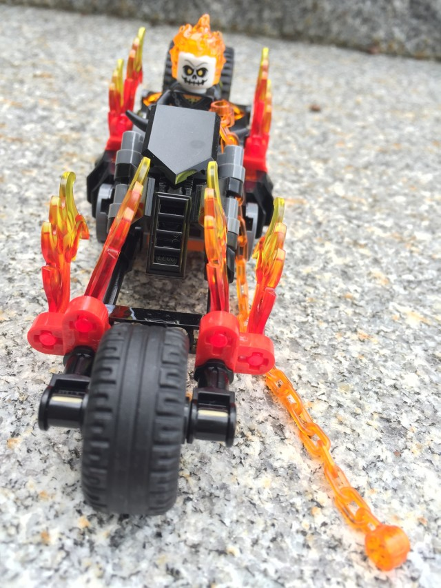 Ghost Rider LEGO Set on Motorcycle