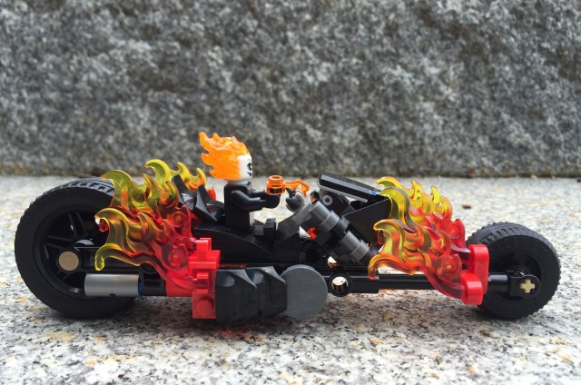 Side View of LEGO Marvel Ghost Rider Motorcycle