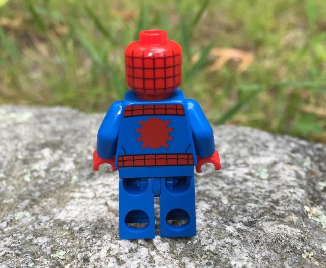 Back of 76058 Spider-Man LEGO Figure