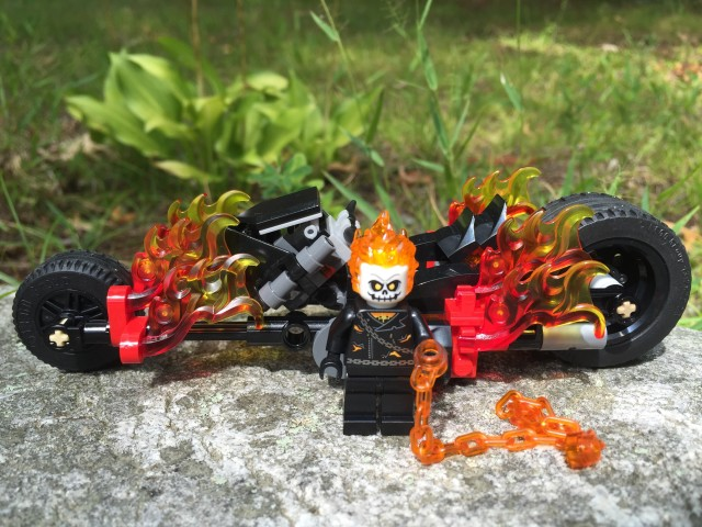 LEGO 76058 Ghost Rider Minifig and Motorcyle