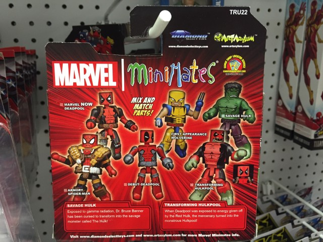 Toys R Us Minimates Hulkpool Hulk Packaging Back