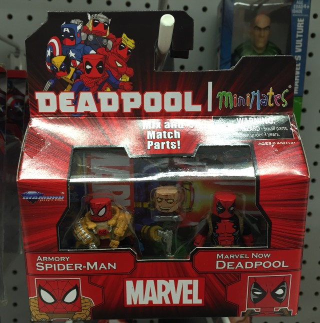 Marvel Minimates Deadpool & Armory Spider-Man Two-Pack