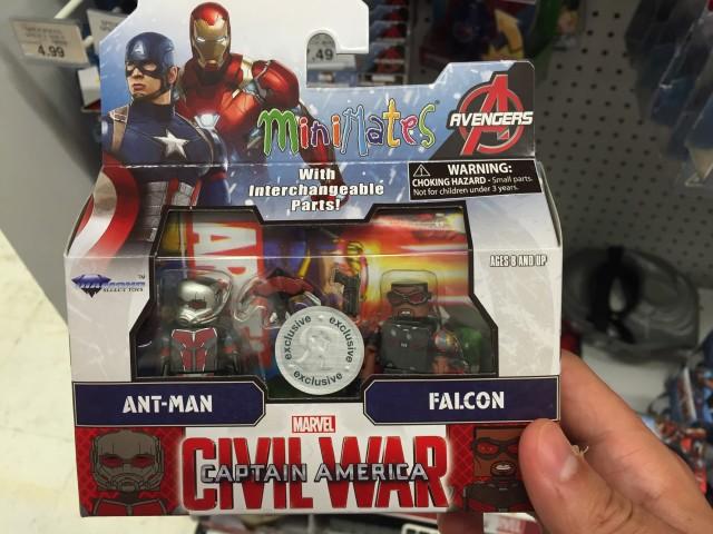 Toys R Us Exclusive Civil War Ant-Man Falcon Minimates Pack