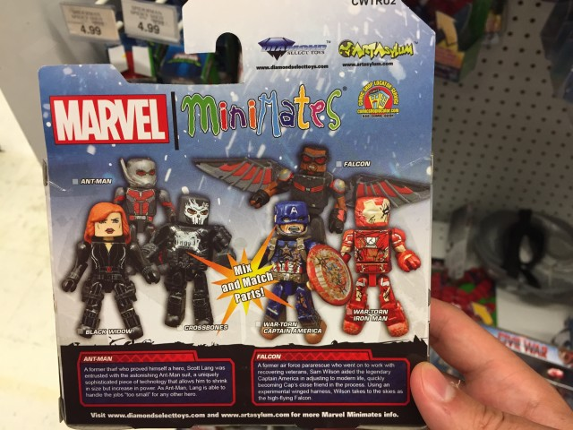 TRU Exclusive Captain America Civil War Minimates Wave 2 Back