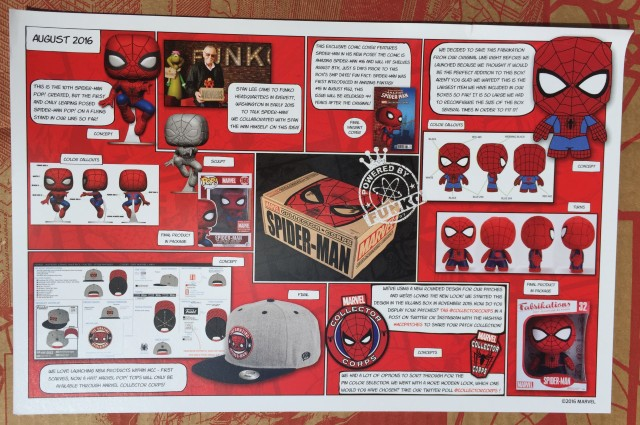 Marvel Collector Corps Spider-Man Box Spoilers Contents Insert