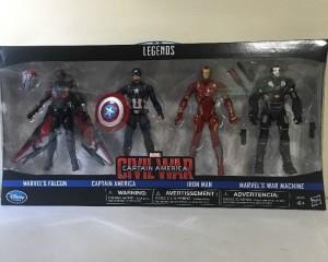 Marvel Legends Civil War Figures 4-Pack Disney Store Exclusive