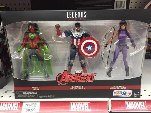Marvel Legends Vision Sam Wilson Kate Bishop 3 Pack Released