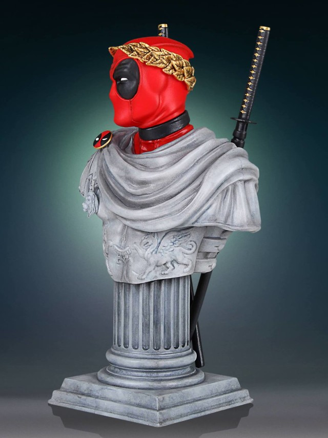 Side View of Gentle Giant Ltd Deadpool Casesar Classic Armless Bust