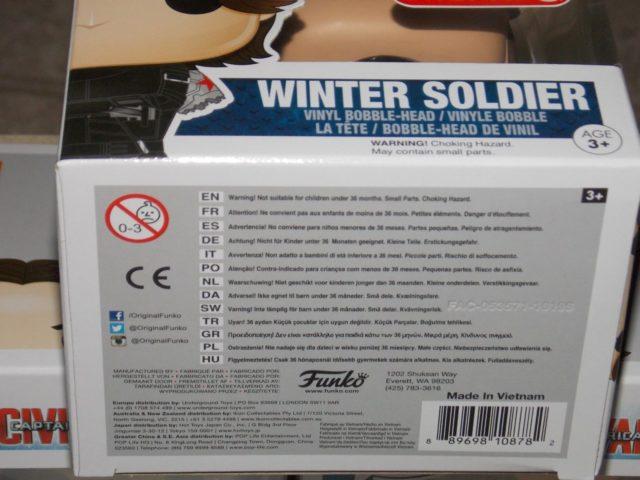 Funko Winter Soldier Armless POP Vinyl Figure UPC Code Target Exclusive