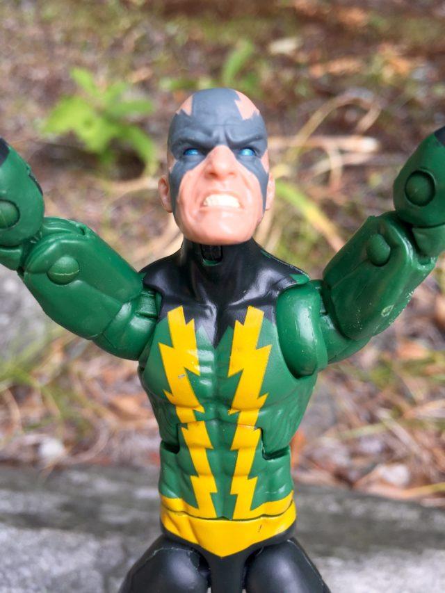 Close-Up of Unmasked Electro Head Marvel Legends