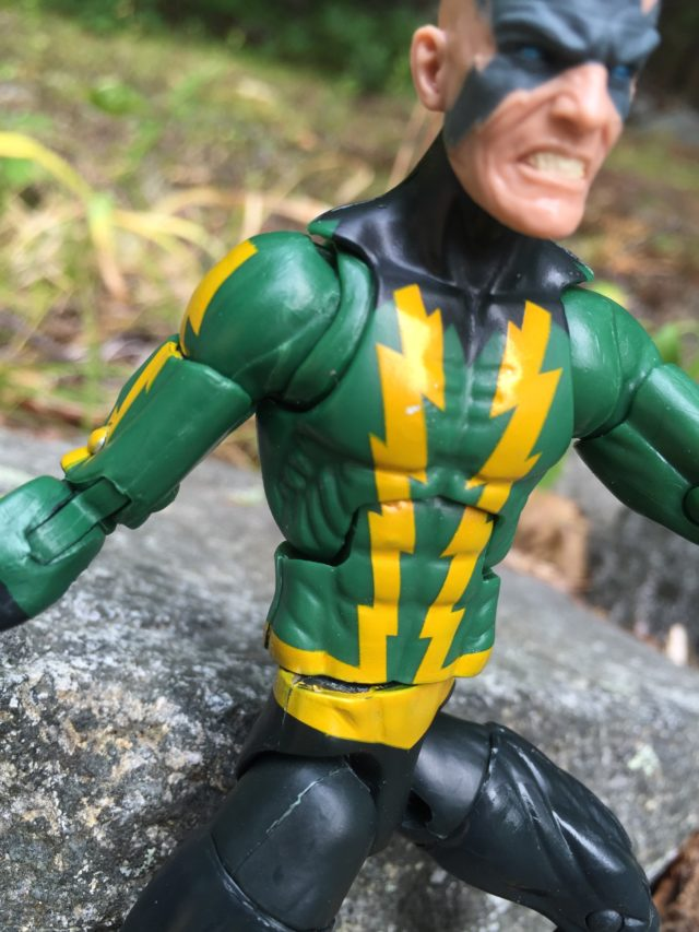 Close-Up of Paint Apps on Spider-Man Legends Electro Action Figure
